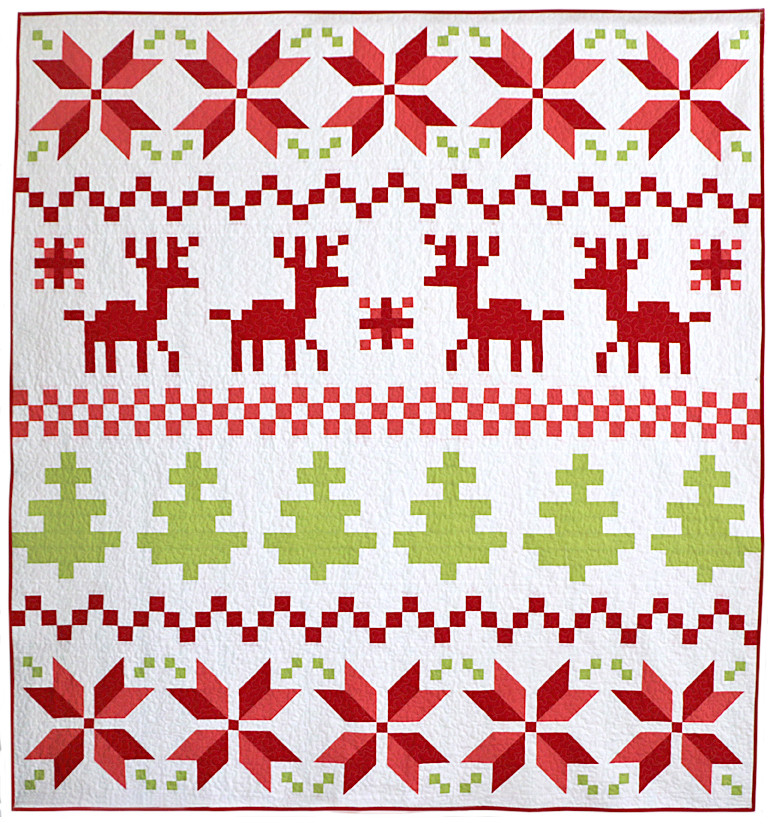 Freshly Pieced Fair Isle Christmas Quilt My New Pattern