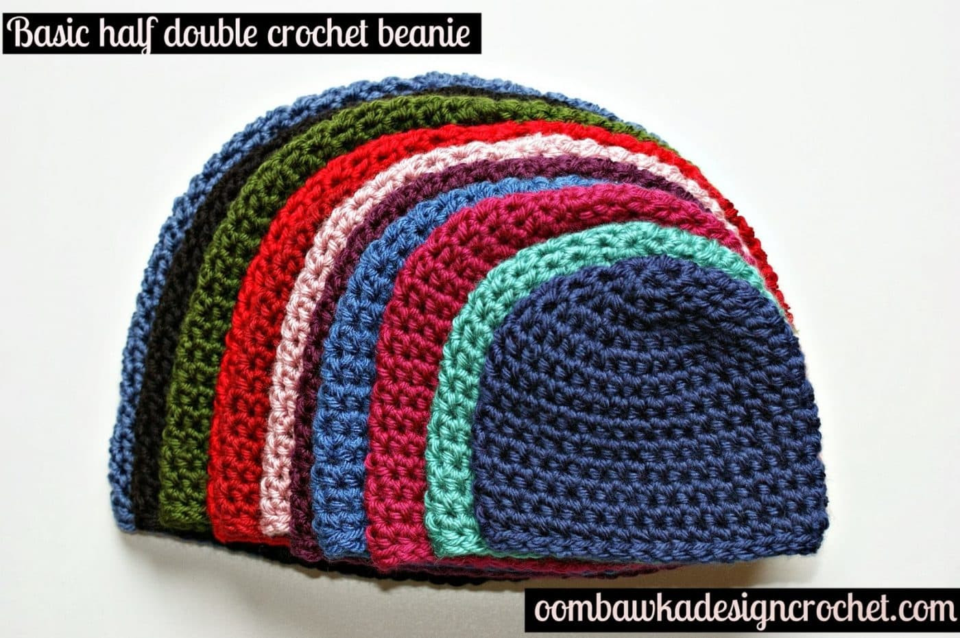 Unique Half Double Crochet Hat Pattern • Oombawka Design Crochet Simple Crochet Beanie Of Amazing 46 Ideas Simple Crochet Beanie