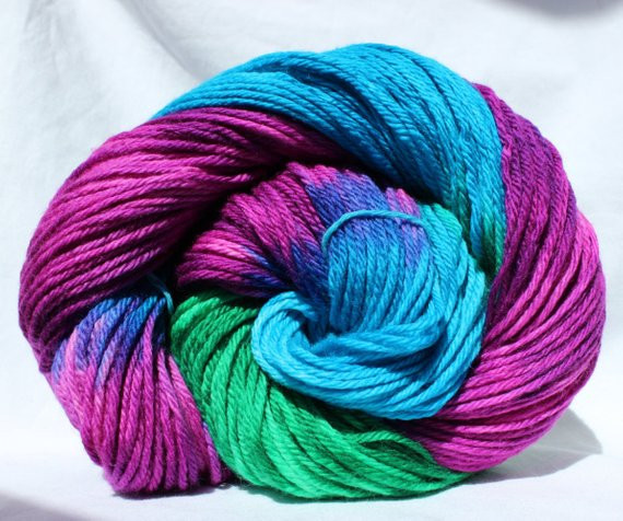 Unique Hand Dyed Yarn Turquoise Green Pink by Smaksuperfibers Green Variegated Yarn Of Beautiful 50 Pics Green Variegated Yarn