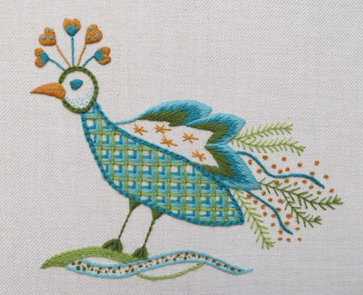 Unique Hand Embroidery Kit In Jacobean Style Peacock Design Hand Embroidery Kits Of Delightful 45 Photos Hand Embroidery Kits