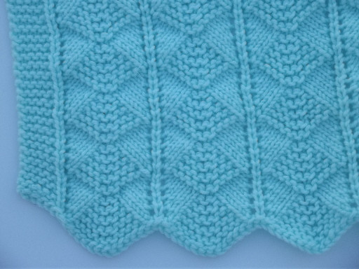 Unique Hand Knit Baby Blanket Vintage Afghan In soft Seafoam Hand Knitted Baby Blankets Of Gorgeous 42 Pics Hand Knitted Baby Blankets