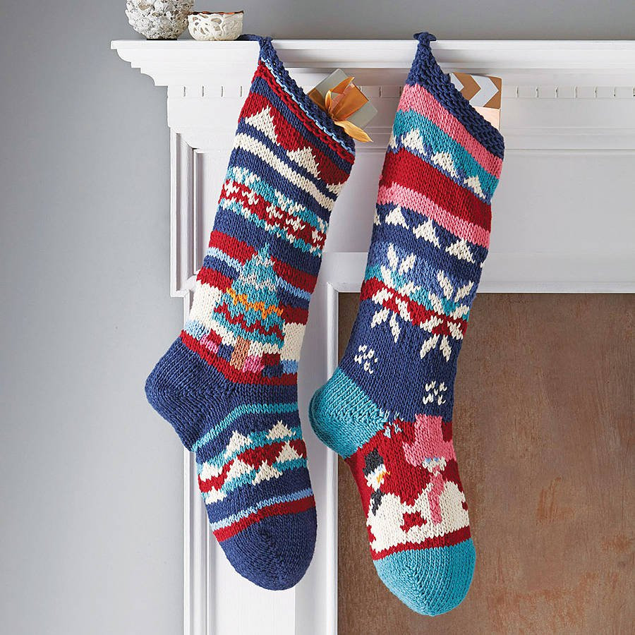 Unique Hand Knitted Christmas Stocking by Chunkichilli Knit Stocking Pattern Of Attractive 47 Pictures Knit Stocking Pattern
