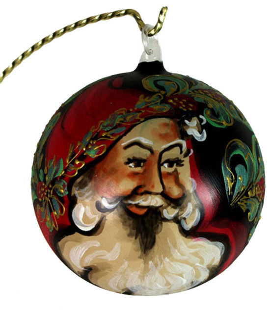 Unique Hand Painted Christmas Ball ornament with Santa Face No 1 Santa Face ornaments Of Great 48 Photos Santa Face ornaments