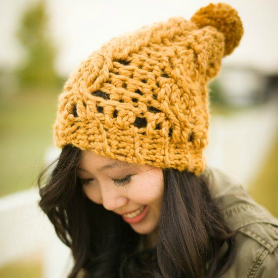 """Unique Here is the Chunky Version Of My """"cabled Slouchy Beanie Crochet Hat Bulky Yarn Of Top 41 Pictures Crochet Hat Bulky Yarn"""