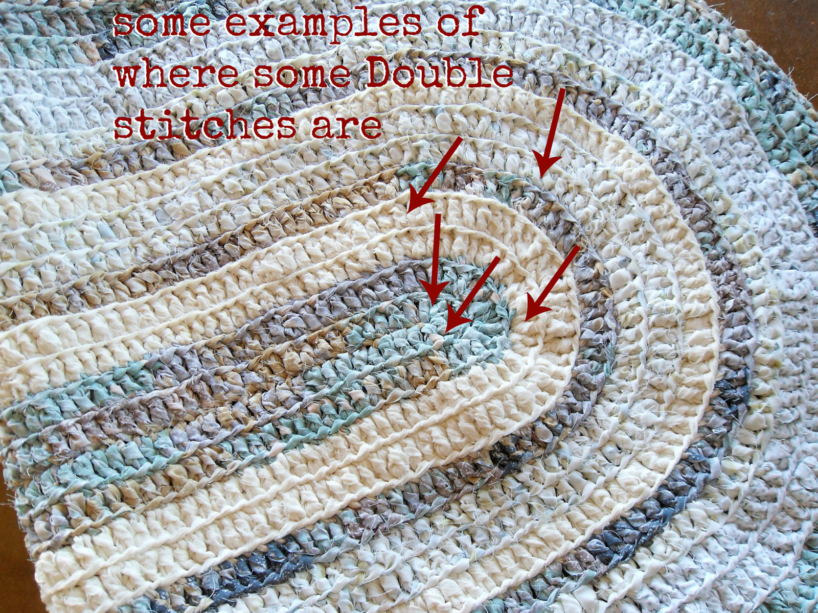 Unique Hill House Homestead Crocheted Rag Rug Crochet Rug with Fabric Strips Of Adorable 46 Images Crochet Rug with Fabric Strips