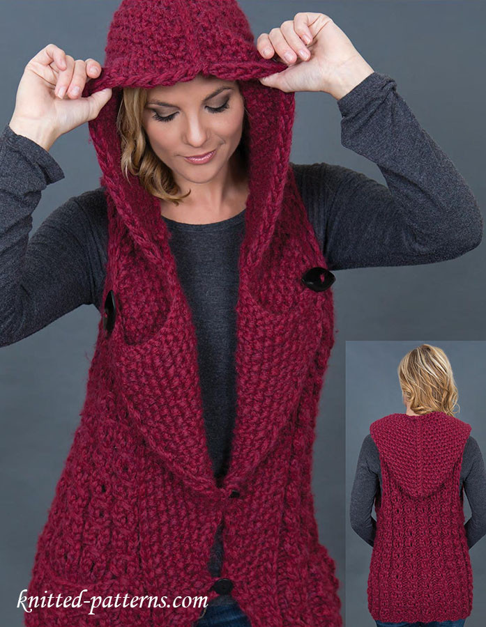 Unique Hooded Vest Knitting Pattern Womens Vest Pattern Of Amazing 46 Ideas Womens Vest Pattern