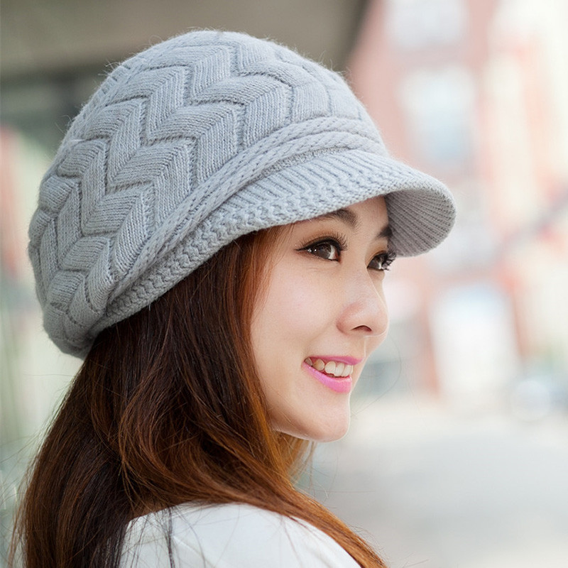 Unique Hot Women La S Beret Winter Warm Baggy Beanie Knit Ladies Knitted Hats Of Adorable 50 Pictures Ladies Knitted Hats