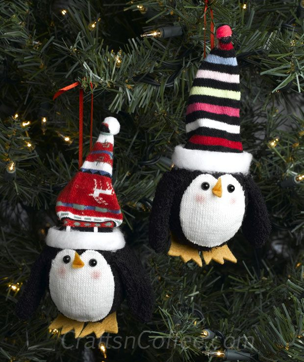 Unique How Cute are these Stocking Caps Made From socks Diy Penguin Christmas ornaments Of Top 50 Models Penguin Christmas ornaments