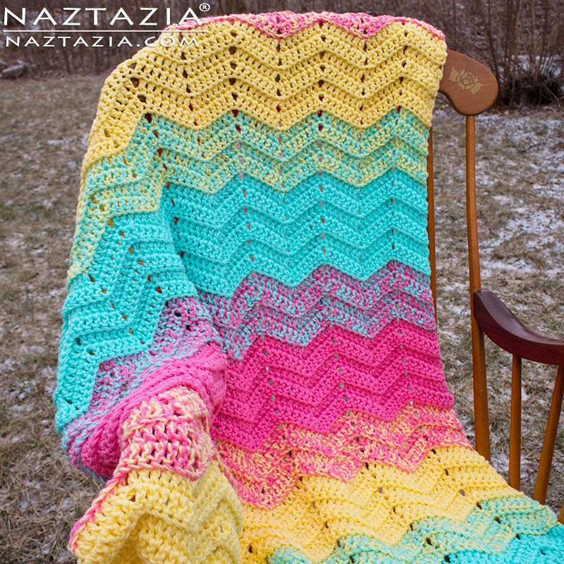 How to Crochet Double Sweet Ripple Blanket