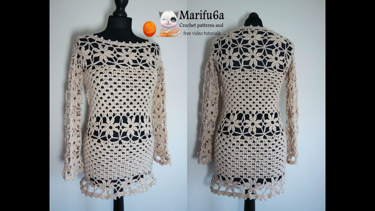 Unique How to Crochet Sweater Pullover Tunic Dress Tutorial Crochet Sweater Dresses Of Great 44 Photos Crochet Sweater Dresses