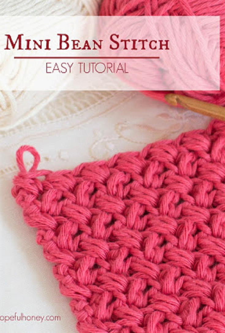Unique How to Crochet the Mini Bean Stitch Easy Tutorial Crochet Stitches with Pictures Of Marvelous 46 Photos Crochet Stitches with Pictures