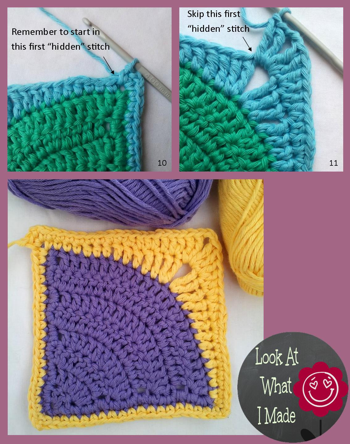 Unique Iced Pie Square Crochet Pattern ⋆ Look at What I Made Sl St Crochet Of Innovative 46 Pics Sl St Crochet