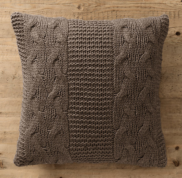 Unique Italian Wool & Alpaca Cable Knit Pillow Cover Mocha Cable Knit Pillow Cover Of Top 41 Pictures Cable Knit Pillow Cover