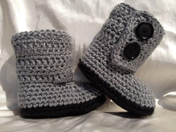 Items similar to Baby Girl Boy Crochet Baby Boots on Etsy