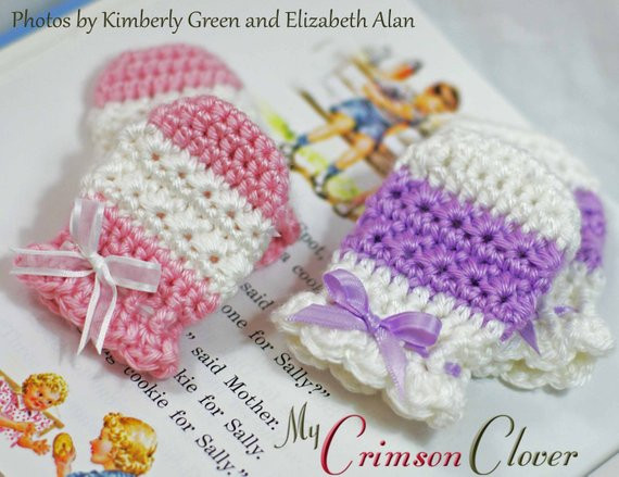 Items similar to Baby Mittens Crochet Pattern STAR