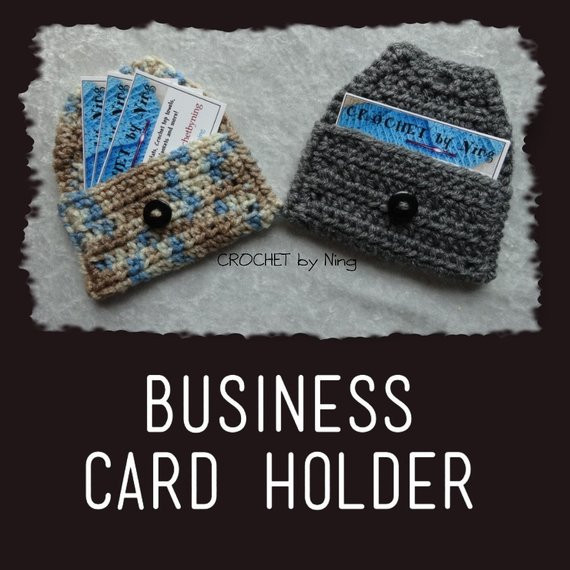 Unique Items Similar to Business Card Holder Crochet Calling Crochet Business Cards Of Superb 40 Photos Crochet Business Cards