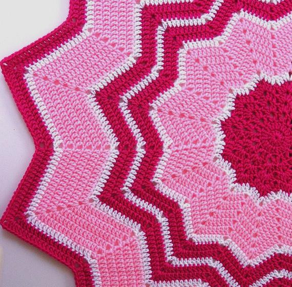 Unique Items Similar to Crocheted Baby Afghan Round Ripple Round Crochet Blanket Of Fresh 46 Models Round Crochet Blanket