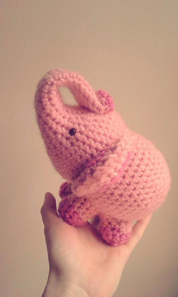 Unique Items Similar to Elephant Crochet Stuffed Doll toy Round Crochet Stuff Of Incredible 42 Pictures Crochet Stuff