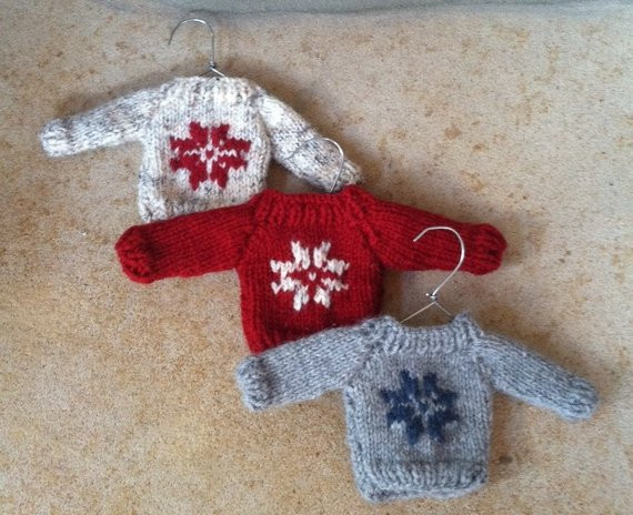 Unique Items Similar to Mini Christmas Sweater ornament Hand Knit Christmas ornament Knitting Patterns Of Beautiful 41 Pics Christmas ornament Knitting Patterns