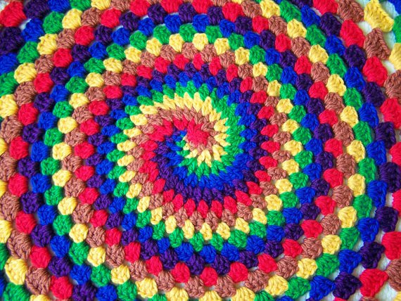 Items similar to Spiral rainbow blanket on Etsy