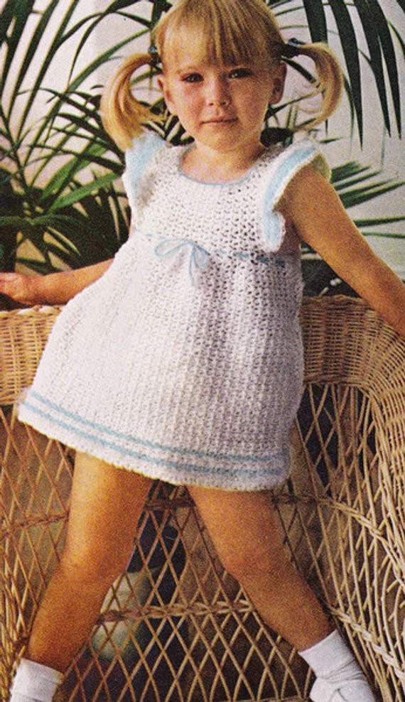 vintage crochet pattern little girl