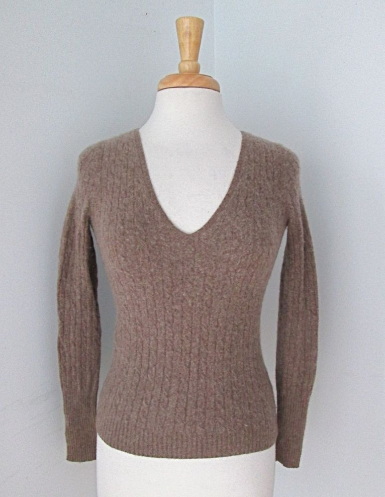 Unique J Crew Light Brown Wool Cashmere Blend Cable Knit V Neck V Neck Cable Knit Sweater Of Great 44 Pictures V Neck Cable Knit Sweater