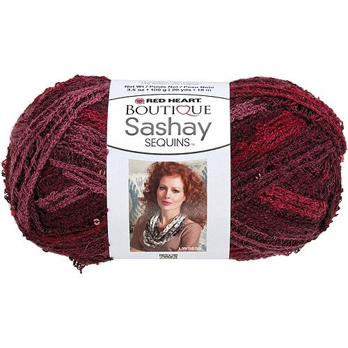 Jet Red Heart Boutique Sashay Sparkle Yarn