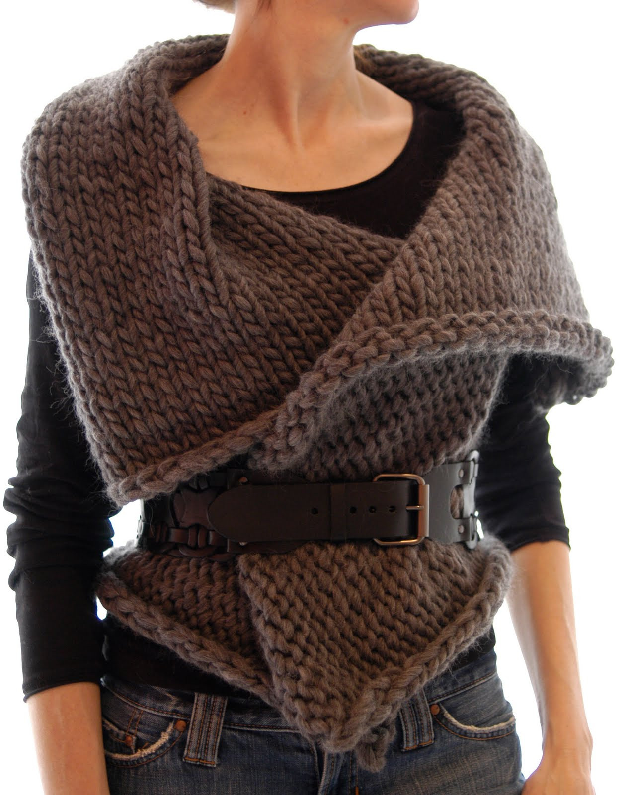 Unique Knit 1 La Magnum Reversible Vest Wrap Knitted Vest Of Great 48 Pics Knitted Vest
