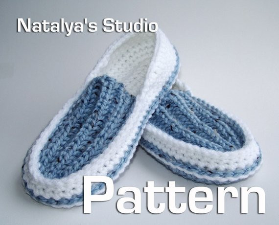 Unique Knit Crochet Slippers Pattern Ribbed Moccasins Pdf Shoes Mens Crochet Slippers Of Contemporary 46 Images Mens Crochet Slippers