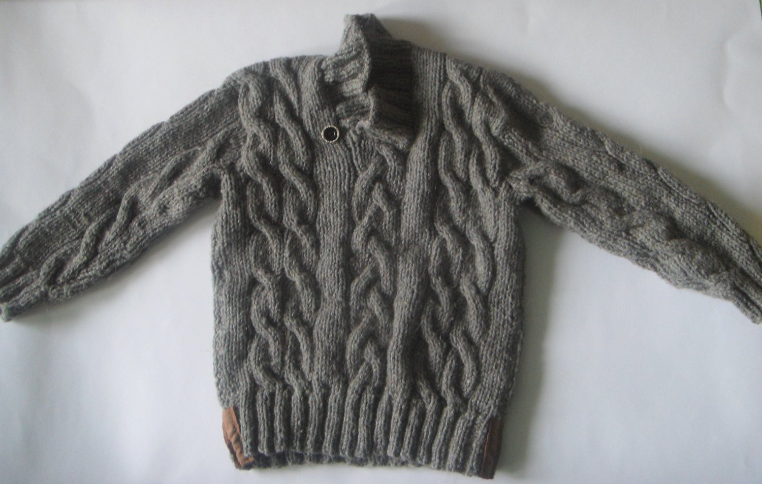 Knitted sweater Kids fall Toddler sweater Hand knit sweater