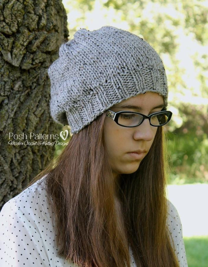 Unique Knitting Pattern Easy Knit Slouchy Hat Pattern Slouchy Hat Knit Pattern Of Superb 45 Ideas Slouchy Hat Knit Pattern