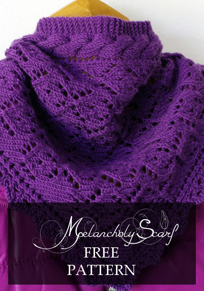 "Unique Knitting Pattern for ""melancholy"" Scarf Free Lace Knitting Patterns Of Great 49 Images Free Lace Knitting Patterns"