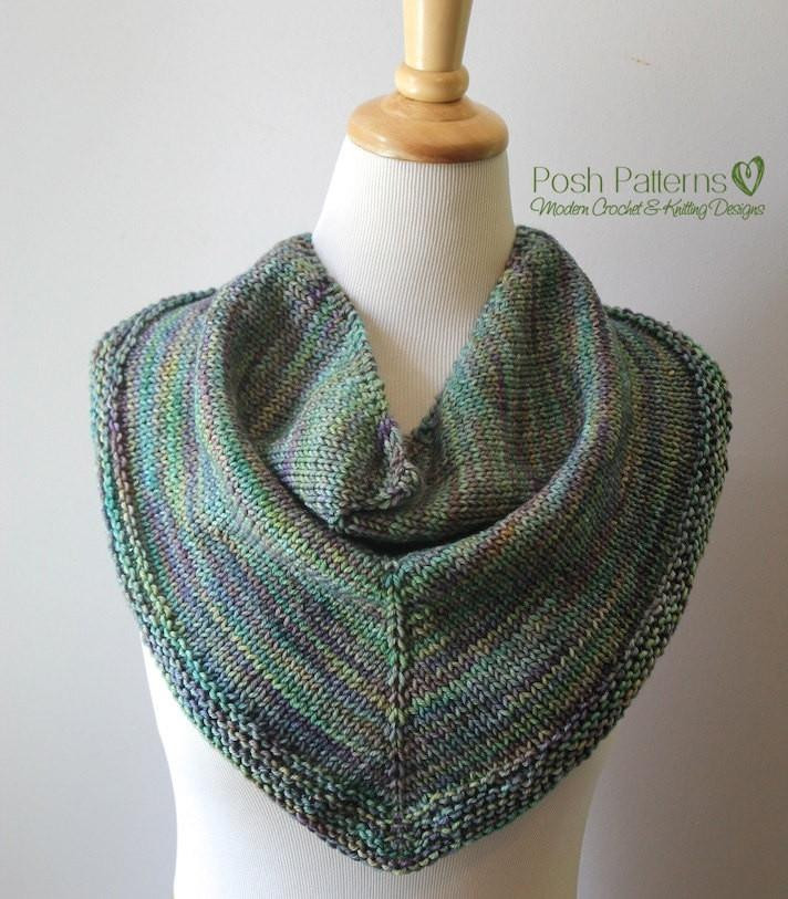 Unique Knitting Pattern Knit Triangle Scarf Pattern Cowl Triangle Scarf Pattern Of Top 49 Models Triangle Scarf Pattern