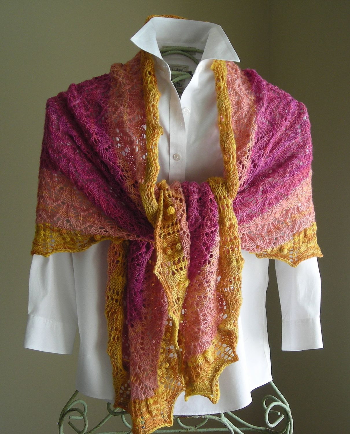 Unique Knitting Pattern Pdf Crape Myrtle Scarf Shawl Great Knitted Shawl Wrap Of Superb 49 Images Knitted Shawl Wrap