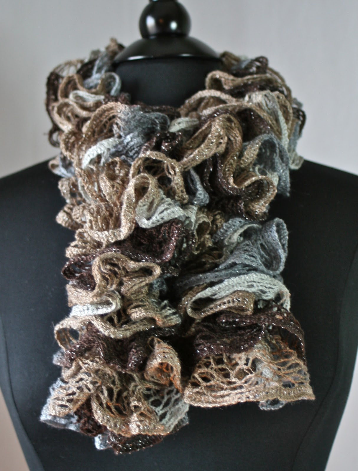 Unique Knots N Knits Crocheted Ruffled Scarves Sashay Vs Yarn Scarf Of Attractive 49 Photos Yarn Scarf