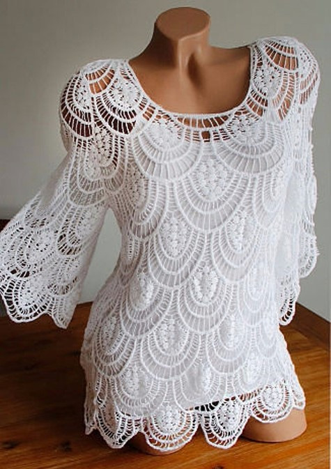 Unique La S White Blouses Crochet Shirts Of Brilliant 43 Ideas Crochet Shirts