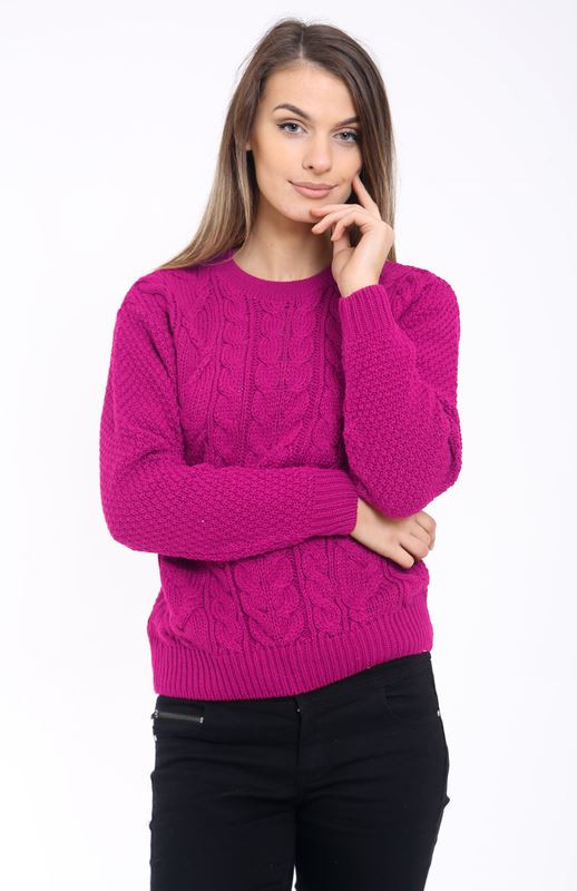 Unique La S Women Knitted Crew Neck Long Sleeve Cable Knit Womens Chunky Cable Knit Sweater Of Luxury 45 Models Womens Chunky Cable Knit Sweater
