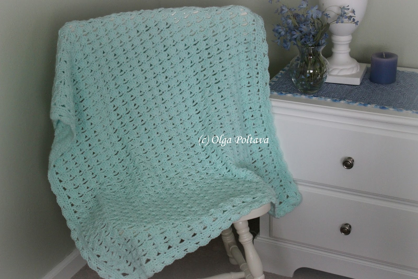 Unique Lacy Crochet Shells and Chains Baby Blanket My New Pattern Shell Pattern Crochet Baby Blanket Of Beautiful 41 Pics Shell Pattern Crochet Baby Blanket