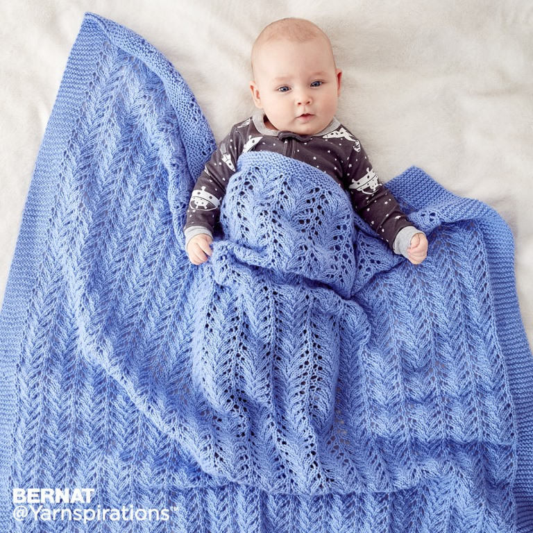 Lacy Knit Baby Blanket