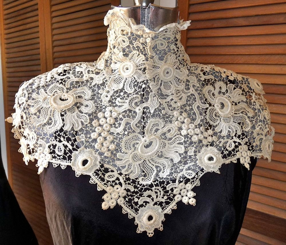 Unique Late Victorian Early Edwardian Downton Abbey High Collar Irish Irish Crochet Lace Of Wonderful 42 Images Irish Crochet Lace