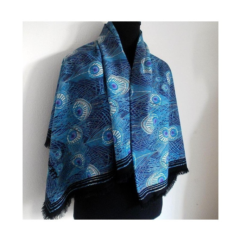 Unique Liberty Of London Peacock Feather Hera Varuna Wool Peacock Shawl Of Charming 44 Pictures Peacock Shawl