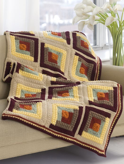 Unique Log Cabin Afghan Crochet Pattern From Red Heart Yarn Red Heart Free Crochet Afghan Patterns Of Great 49 Ideas Red Heart Free Crochet Afghan Patterns
