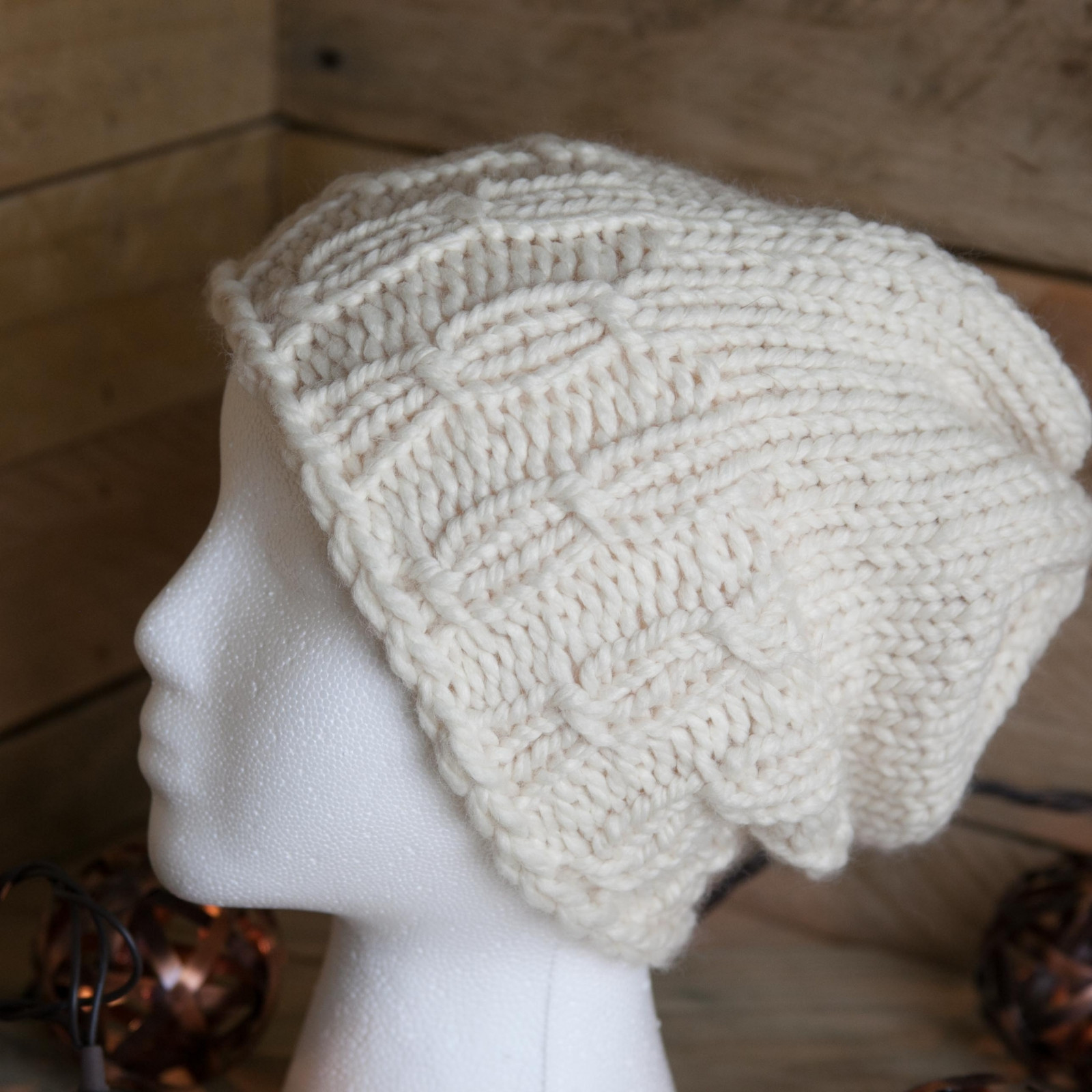 Loom Knit Hat Pattern Meadowlands Staggered Cable Hat