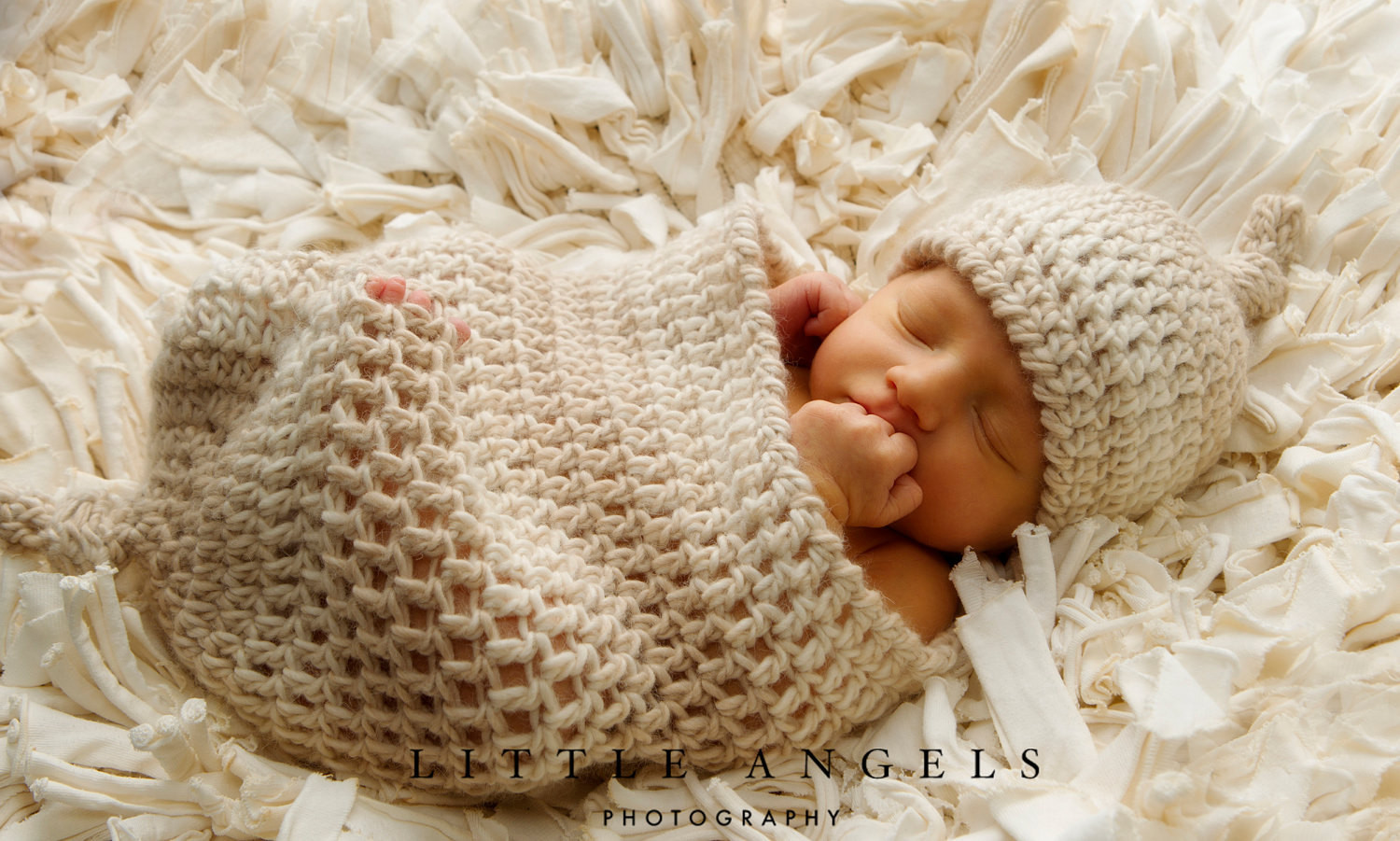 Love Knots Newborn Beanie and Cocoon Crochet Pattern