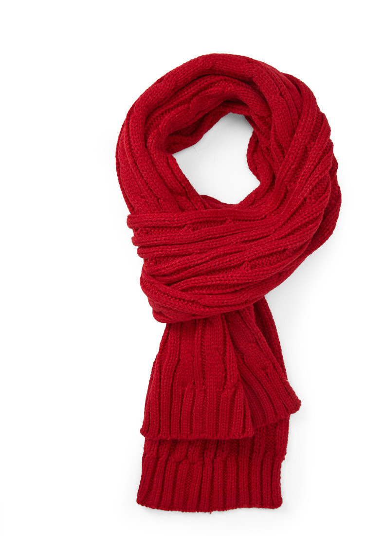 Unique Lyst forever 21 Cable Knit Scarf In Red Cable Scarf Of Innovative 49 Ideas Cable Scarf