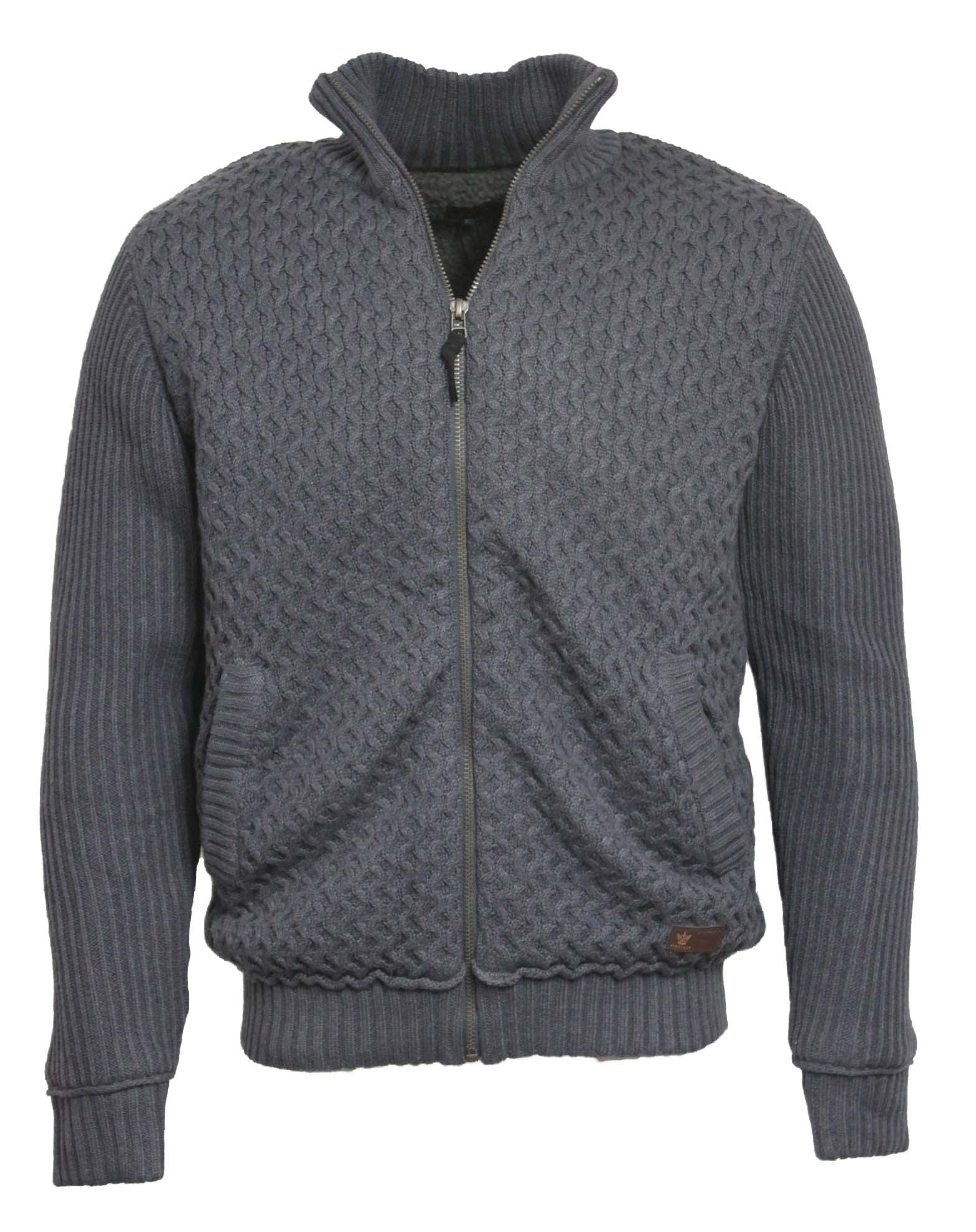 mens cable knitted cardigan promotion