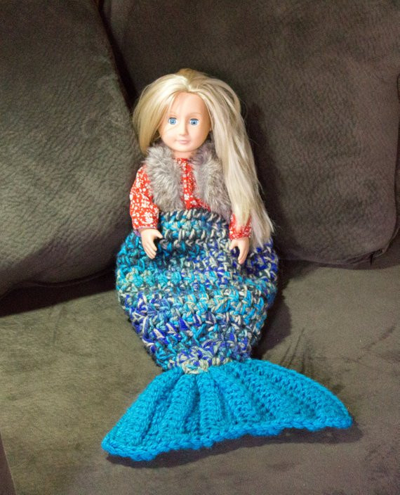 Unique Mermaid Tail Crochet Blanket for 18 Dolls Newborn or Mermaid Tails for Dolls Of Amazing 41 Photos Mermaid Tails for Dolls