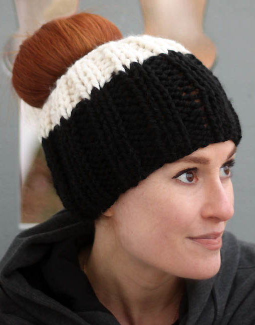 Unique Messy Bun and Ponytail Hat Knitting Patterns Bun Hat Knitting Pattern Of Amazing 40 Ideas Bun Hat Knitting Pattern