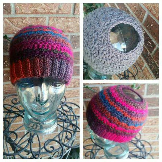 Unique Messy Bun Beanie Ponytail Hat Crochet Hat Hole for Bun Beanie with Bun Hole Of Amazing 46 Photos Beanie with Bun Hole
