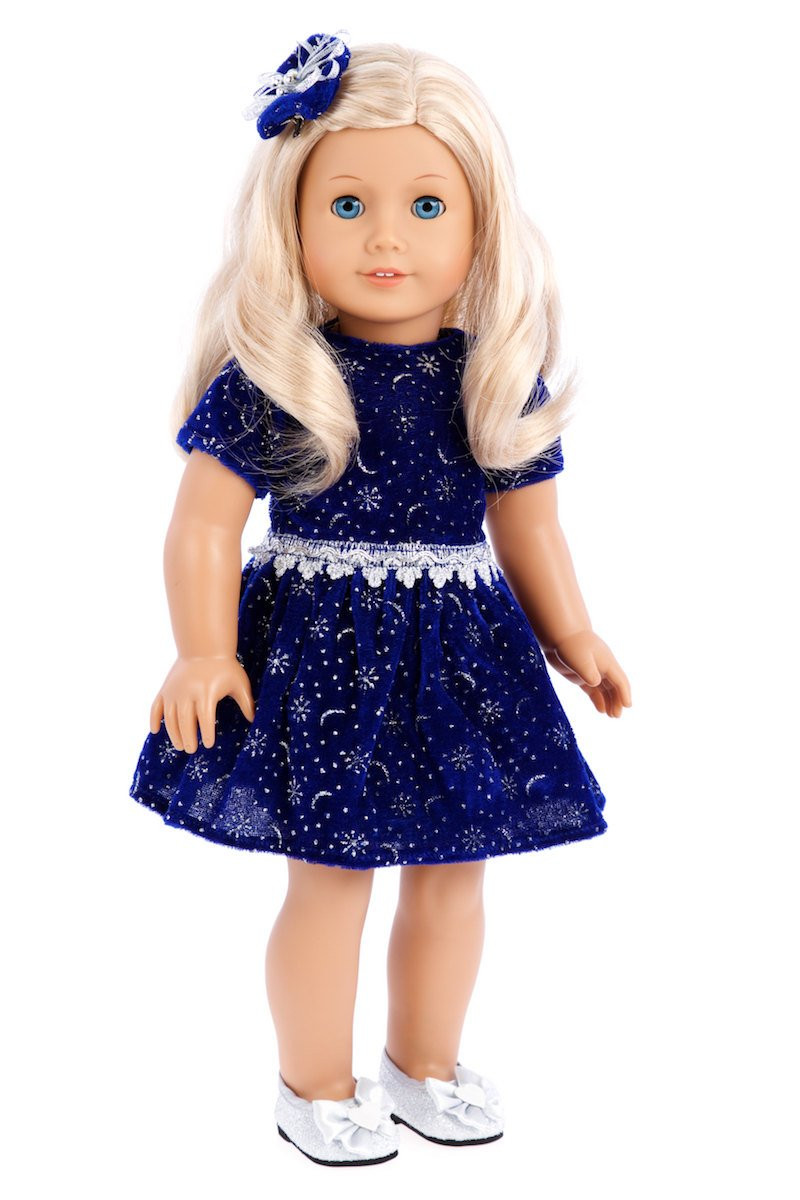 Unique Midnight Blue Doll Clothing for 18 Inch American Girl Doll American Girl Christmas Dress Of Lovely 47 Models American Girl Christmas Dress